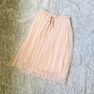 Mauve pink tulle skirt
